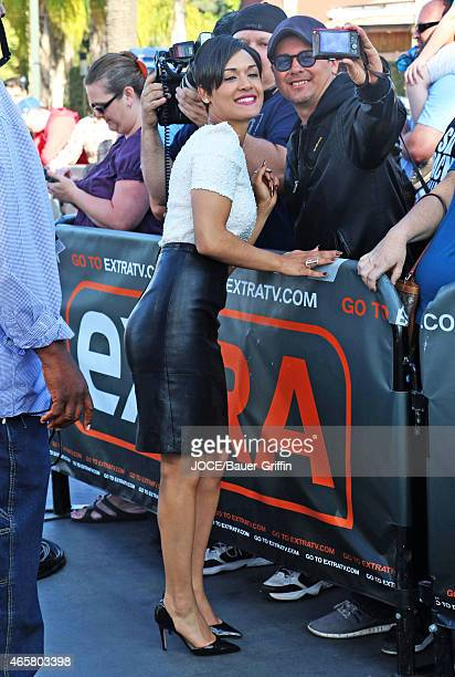 Grace Gealey is seen at 'Extra' on March 10, 2015 in Los Angeles, California.