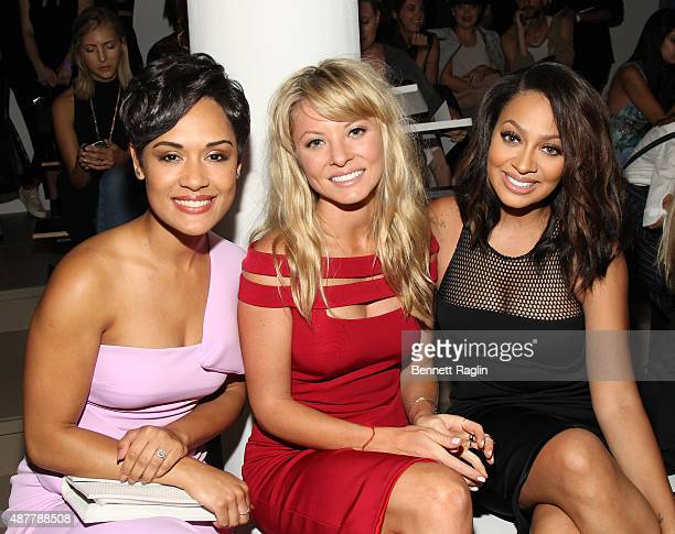 Grace Gealey Kaitlin Doubleday and La La Anthony attend Cushnie the Et Ochs show during Spring 2016 MADE Fashion Week at Milk Studios on September 11...