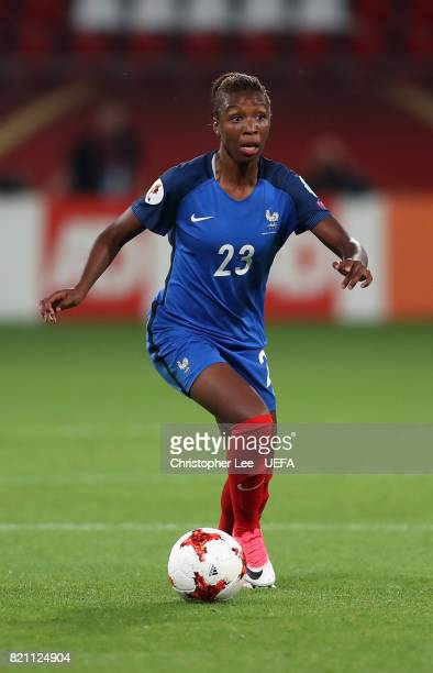 Grace Geyoro of France in action during the UEFA Women's Euro 2017 Group C match between France and Austria at Stadion Galgenwaard on July 22 2017 in...