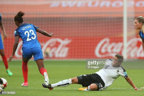 Grace Geyoro of France women Laura Feiersinger of Austria women during the UEFA WEURO 2017 Group C group stage match between France and Austria at...