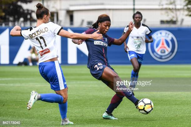 Grace Geyoro of PSG during women's Division 1 match between Paris Saint Germain PSG and Soyaux on September 3 2017 in Paris France
