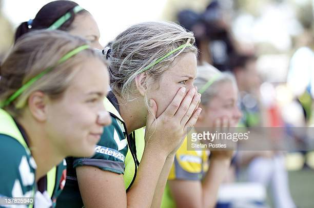 Grace Gill of Canberra United watches during the final minute of the 2012 WLeague Grand Final match between Canberra United and the Brisbane Roar at...