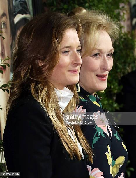 Grace Gummer and actress Meryl Streep attend the premiere of Focus Features' 'Suffragette' at the Samuel Goldwyn Theater on October 20 2015 in...