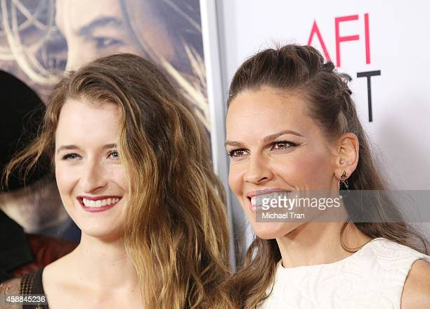 Grace Gummer and Hilary Swank arrive at AFI FEST 2014 Presented By Audi 'The Homesman' premiere held at Dolby Theatre on November 11 2014 in...
