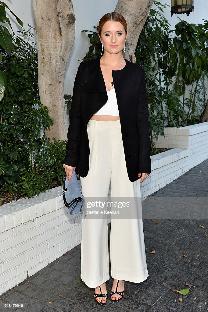 Grace Gummer at the CFDA/Vogue Fashion Fund Show and Tea presented by kate spade new york at Chateau Marmont on October 26, 2016 in Los Angeles, California.