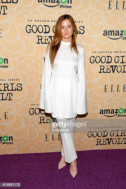 Grace Gummer attends the 'Good Girls Revolt' New York screening at the Joseph Urban Theater at Hearst Tower on October 18 2016 in New York City