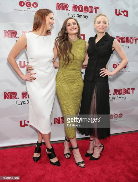 Grace Gummer Carly Chaikin and Portia Doubleday attend 'Mr Robot' FYC Screening at The Metrograph on June 8 2017 in New York City