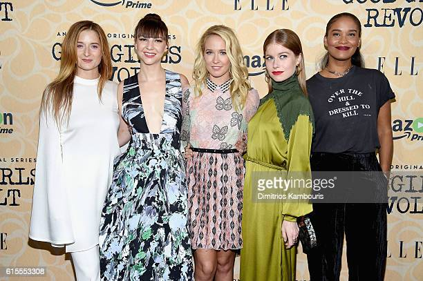 Grace Gummer Erin Darke Anna Camp Genevieve Angelson and Joy Bryant attend the Good Girls Revolt New York Screening at the Joseph Urban Theater at...