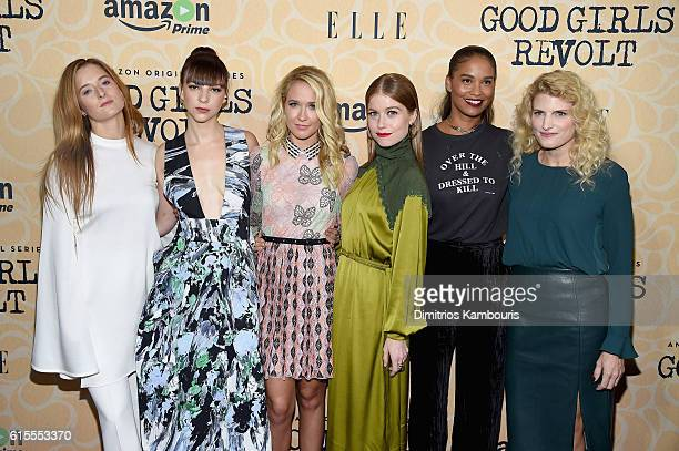 Grace Gummer Erin Darke Anna Camp Genevieve Angelson Joy Bryant and Lynn Povich attend the 'Good Girls Revolt' New York Screening at the Joseph Urban...