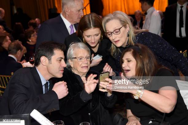 Grace Gummer Meryl Streep and Amy Pascal attend the National Board of Review Annual Awards Gala at Cipriani 42nd Street on January 9 2018 in New York...