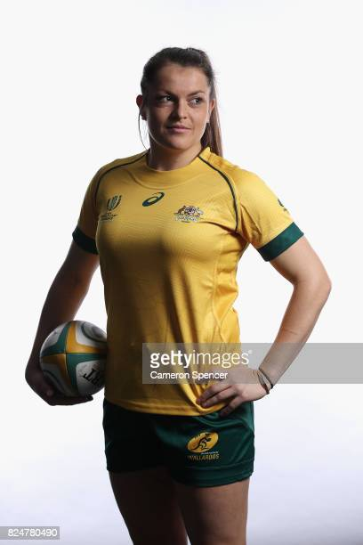 Grace Hamilton poses during the Wallaroos World Cup Headshots Session at the Sydney Academy of Sport on July 30 2017 in Sydney Australia