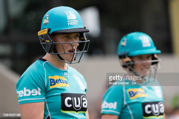 Grace Harris of the Brisbane Heat is pictured before the Women's Big Bash League Semi Final with the Sydney Thunder on January 19 2019 in Sydney...