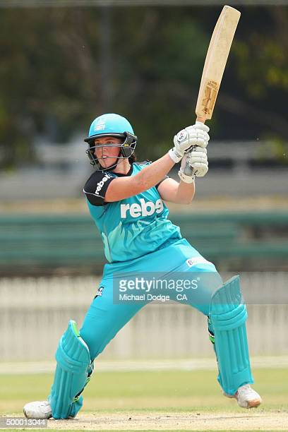 Grace Harris of the Heat bats during the Women's Big Bash League match between the Brisbane Heat and the Melbourne Stars at Junction Oval on December...