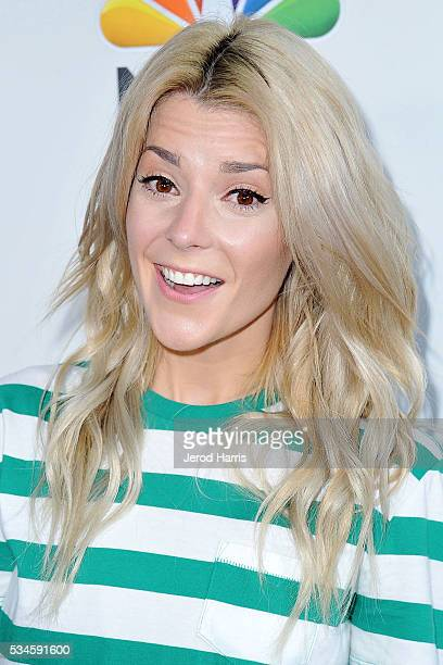Grace Helbig arrives at the Red Nose Day Special on NBC at Alfred Hitchcock Theater at Universal Studios on May 26 2016 in Universal City California