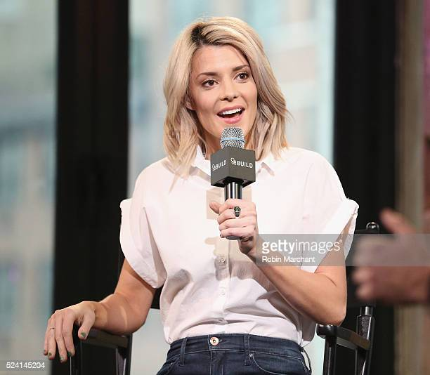 Grace Helbig attends AOL Build Presents 'Electra Woman And Dyna Girl' at AOL Studios In New York on April 25 2016 in New York City
