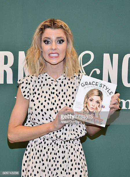 Grace Helbig Book signs her new book 'Grace And Style The Art Of Pretending You Have It' at Barnes Noble at The Grove on February 11 2016 in Los...