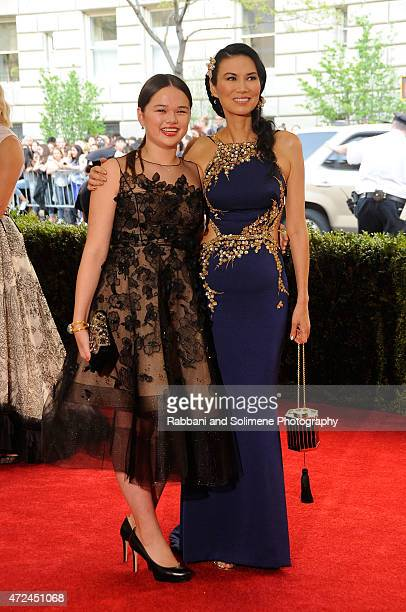 Grace Helen Murdoch and Wendy Deng arrives at China Through The Looking Glass Costume Institute Benefit Gala at the Metropolitan Museum of Art on May...