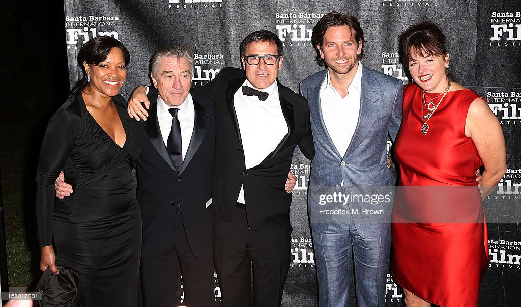 L-R) Grace Hightower, actor Robert De Niro, director David O. Russell, actor Bradley Cooper and a guest attend the SBIFF's 2012 Kirk Douglas Award for Excellence In Film during the Santa Monica Film Festival on December 8, 2012 in Goleta, California.