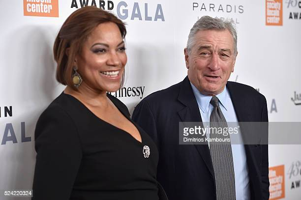 Grace Hightower and actor Robert De Niro attend the 43rd Chaplin Award Gala on April 25 2016 in New York City