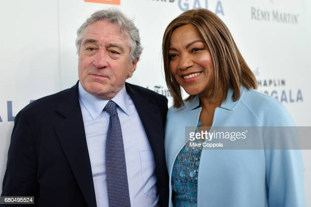 Grace Hightower and actor Robert De Niro attend the 44th Chaplin Award Gala at David H Koch Theater at Lincoln Center on May 8 2017 in New York City
