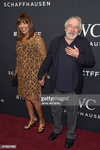 Grace Hightower and Oscar Award Winning Actor Robert De Niro attend the exclusive gala event 'For the Love of Cinema' during the Tribeca Film...