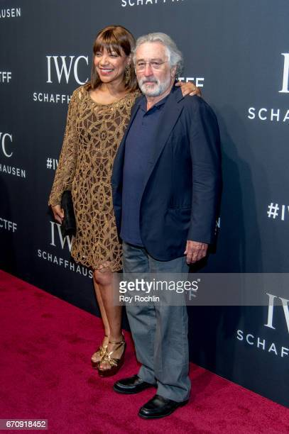 Grace Hightower and Robert De Niro attend 'For The Love Of Cinema' Gala Dinner at Spring Studios on April 20 2017 in New York City
