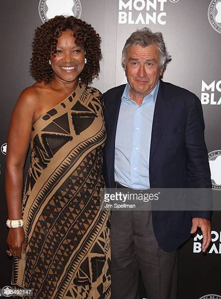 Grace Hightower and Robert De Niro attend the 23rd Annual Montblanc De La Culture Arts Patronage Award Honoring Jane Rosenthal at Stephan Weiss...