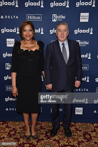 Grace Hightower and Robert De Niro attend the 27th Annual GLAAD Media Awards in New York on May 14 2016 in New York City