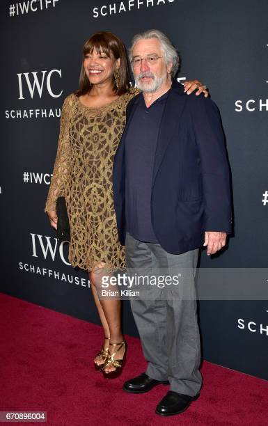 Grace Hightower and Robert De Niro attend the 5th Annual IWC Schaffhausen Tribeca Film Festival For The Love Of Cinema Gala at Spring Studios on...