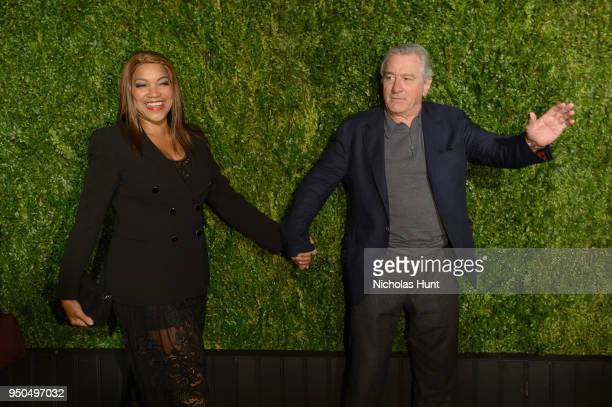 Grace Hightower and Robert De Niro attend the CHANEL Tribeca Film Festival Artists Dinner at Balthazar on April 23 2018 in New York City