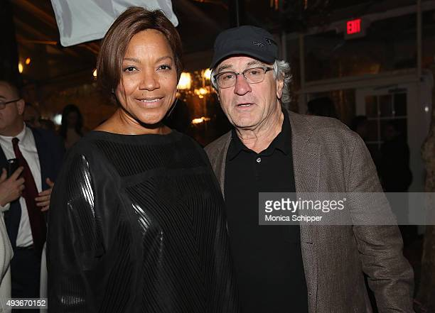 Grace Hightower and Robert De Niro attend The Glenholme School Annual New York City Event at Bryant Park Grill on October 21 2015 in New York City