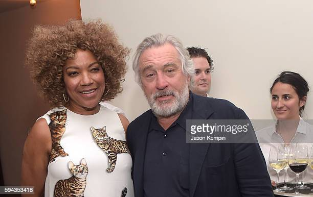 Grace Hightower and Robert De Niro attend the New York Premiere Of Hands Of Stone in Partnership with DeLeon Tequila NetJets The Redbury New York and...