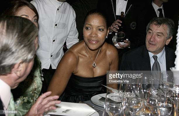 Grace Hightower and Robert De Niro attend the Steps And Stars Award Dinner Party in Piazza di Spagna as part of the Rome Film Festival on October 21...