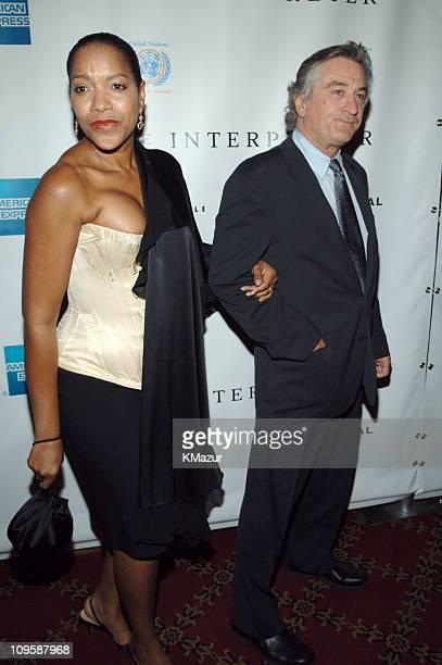 Grace Hightower and Robert De Niro during 4th Annual Tribeca Film Festival The Interpreter Premiere Inside Arrivals at Ziegfeld Theatre in New York...