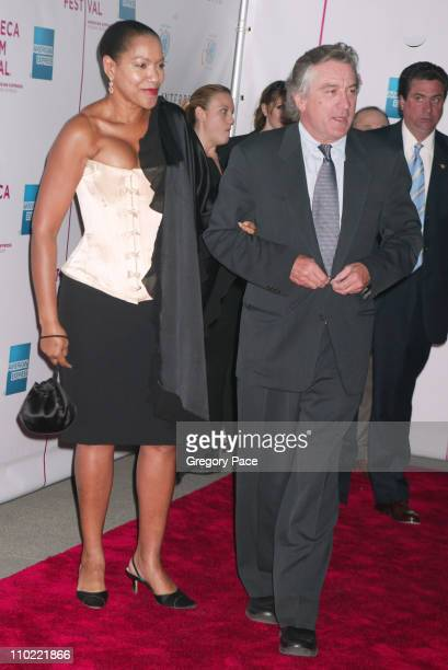 Grace Hightower and Robert De Niro during 4th Annual Tribeca Film Festival 'The Interpreter' Premiere at Ziegfeld Theater in New York City New York...