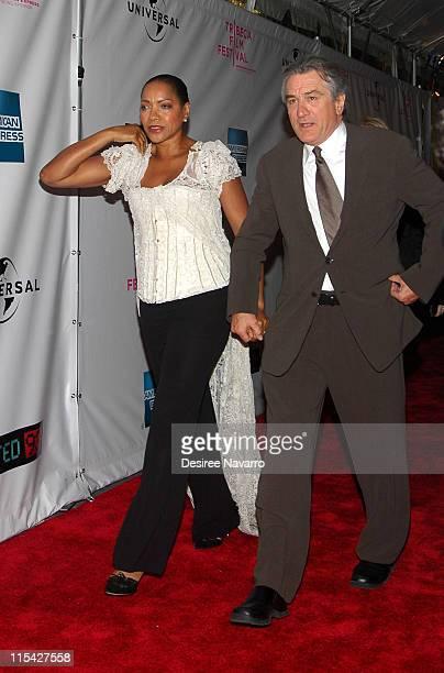 Grace Hightower and Robert De Niro during 'United 93' New York Premiere Arrivals at Ziegfeld Theater in New York City New York United States