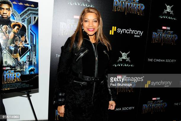 Grace Hightower attends The Cinema Society with Ravage Wines Synchrony host a screening of Marvel Studios' 'Black Panther' at The Museum of Modern...