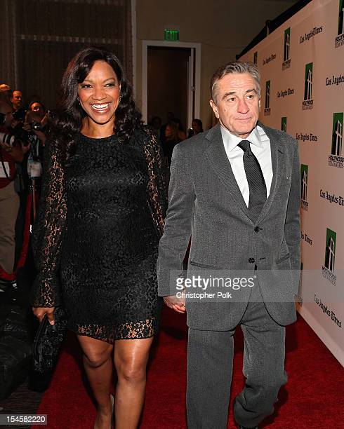 Grace Hightower De Niro and actor Robert De Niro arrive at the 16th Annual Hollywood Film Awards Gala presented by The Los Angeles Times held at The...