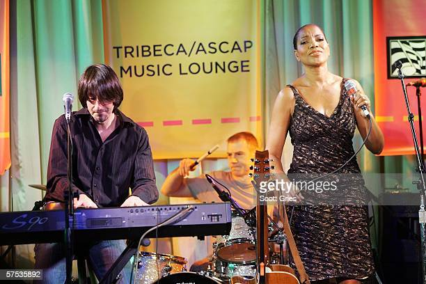 Grace Hightower De Niro and Dan Manjovi perform at the Tribeca/ASCAP Music Lounge at the Canal Room May 4 2006 in New York City