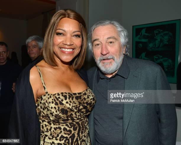 Grace Hightower De Niro and Robert De Niro attend Ermenegildo Zegna 'Defining Moments' Campaign Dinner at Private Gallery on February 9 2017 in New...