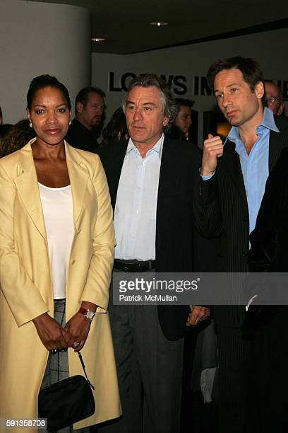 Grace Hightower Robert De Niro and David Duchovny attend 'House of D' New York Premiere at Loews Lincoln Square on April 10 2005 in New York City