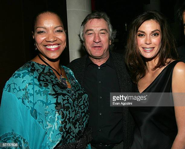 Grace Hightower Roert De Niro and actress Teri Hatcher attend the Tribeca Film Festival Founder's Party at Churrascaria Plataforma Tribeca during the...