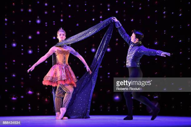 Grace Horler of Scottish Ballet performs on stage during the 'The Nutcracker' photocall at Festival Theatre on December 8 2017 in Edinburgh Scotland