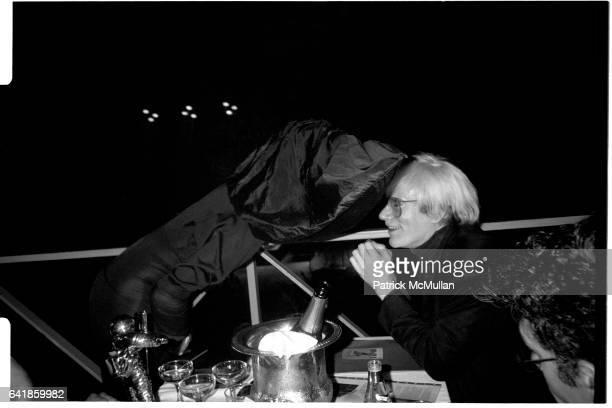Grace Jones and Andy Warhol at the 1986 MTV Music Awards at the Palladium Friday September 5 1986
