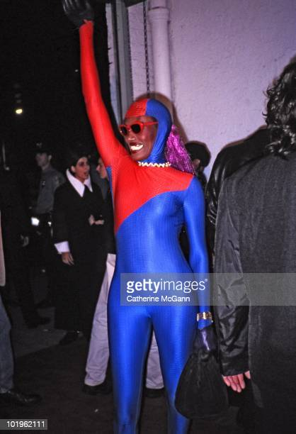 Grace Jones at the party for the publication of Madonna's book 'Sex' on October 15 1992 at Industria Superstudio in New York City New York