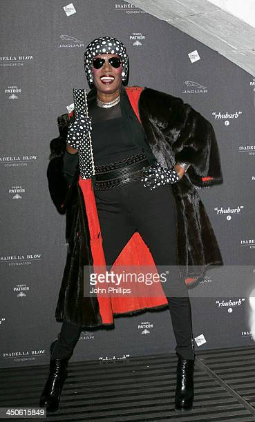 Grace Jones attends Isabella Blow Fashion Galore at Somerset House on November 19 2013 in London England