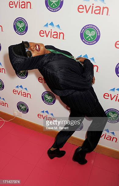 Grace Jones attends the evian 'Live Young' Suite at Wimbledon on June 24 2013 in London England