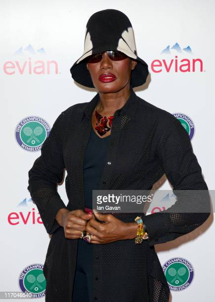 Grace Jones attends the Evian VIP Suite at Wimbledon on June 20, 2011 in London, England.