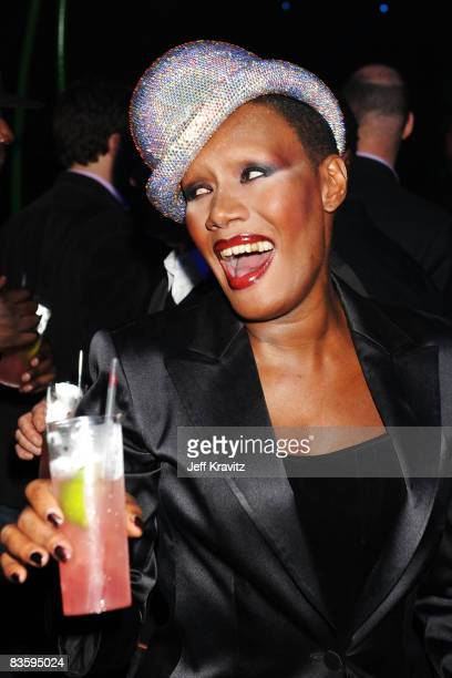 Grace Jones attends the Glamour Pit at the 2008 MTV Europe Music Awards held at at the Echo Arena on November 6 2008 in Liverpool England