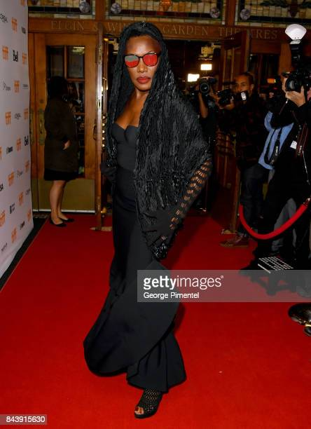 Grace Jones attends the 'Grace Jones Bloodlight And Bami' premiere during the 2017 Toronto International Film Festival at The Elgin on September 7...